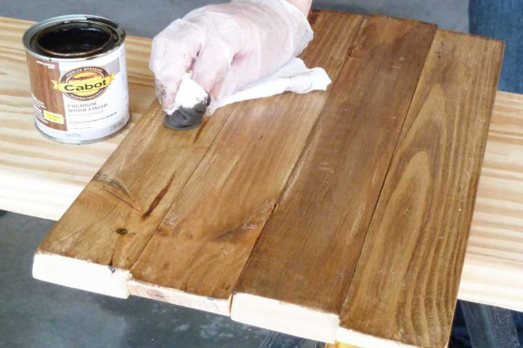 types of wood stain